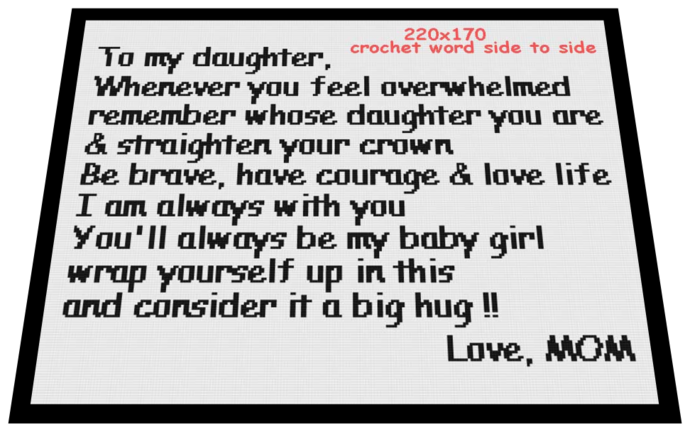 To my daughter 220x170
