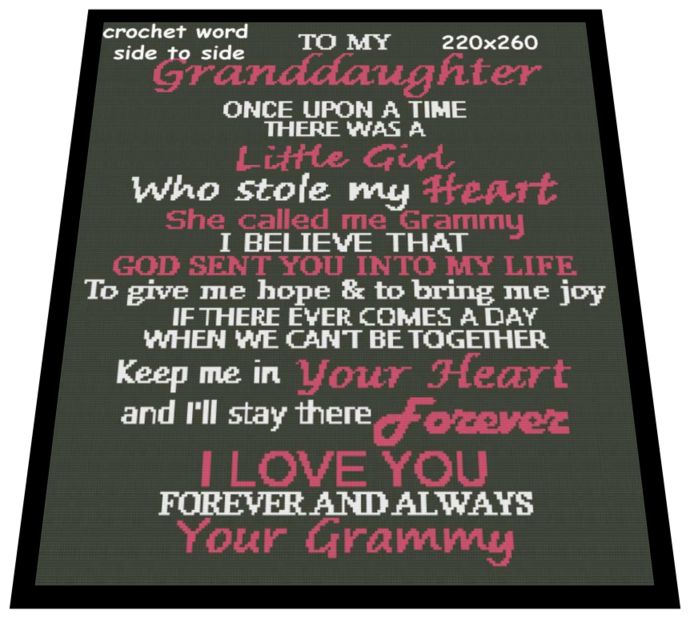 To my granddaughter 220x260