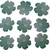 Blue Green Die Cut Flowers for Crafting
