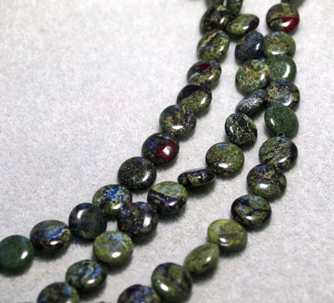 Dragon Blood Coins- gemstone beads