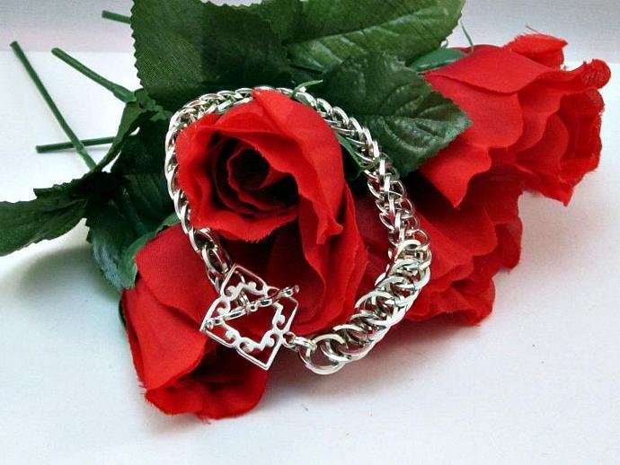 Spellbound Silver Chainmail Bracelet