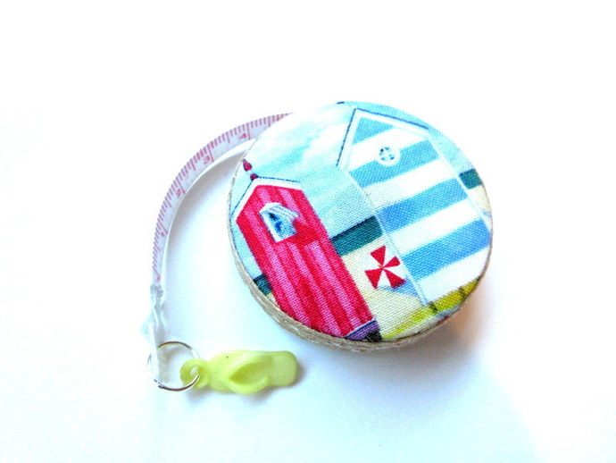 Tape Measure Beach Huts Cabanas Small Retractable Measuring Tape