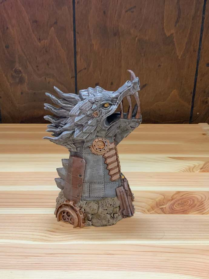 Painted FatesEnd Clockwork Dragon Dice Tower