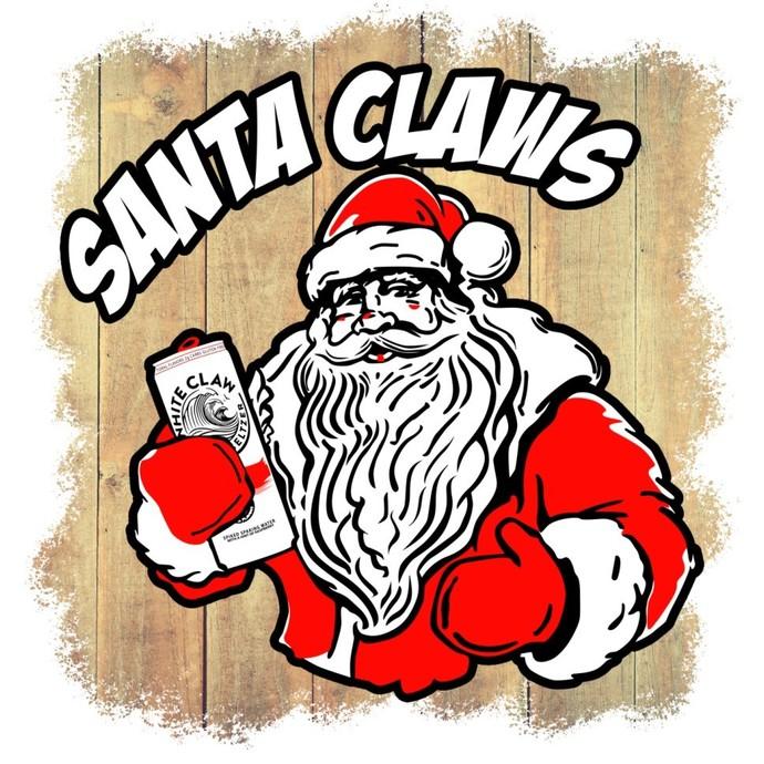 White Claw Santa Claws - Digital Png File - T-shirt Design Clip Art, Ain't No
