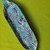 """Hand painted clay platter 14 1/4"""" long X,  3 3/4 """" wide"""
