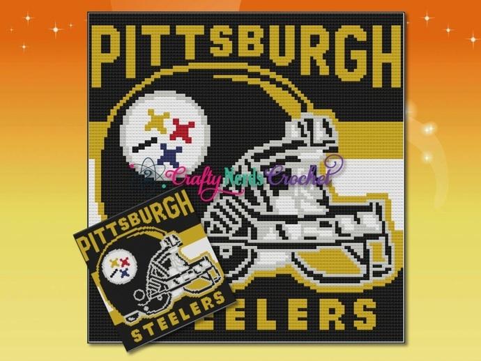 Pittsburgh Steelers Helmet Pattern Graph With Mini C2C Written