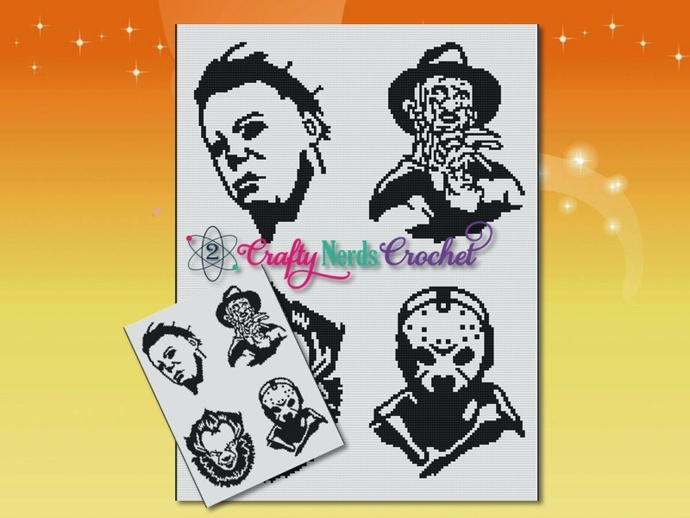 Horror Experts Pattern Graph With Single Crochet Written