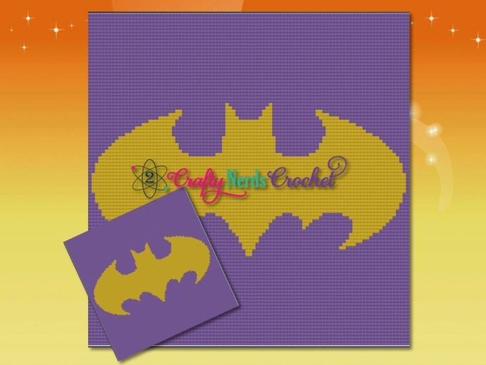 Batgirl Pattern Graph With Single Crochet Written