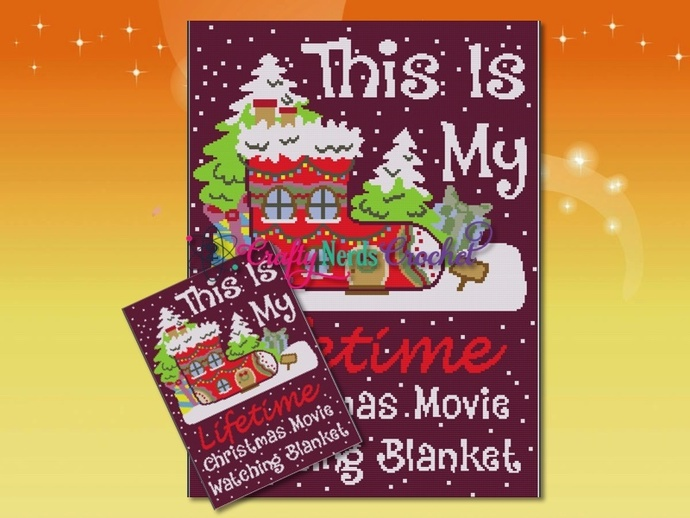 Lifetime Christmas Movie Blanket Pattern Graph With Single Crochet Written