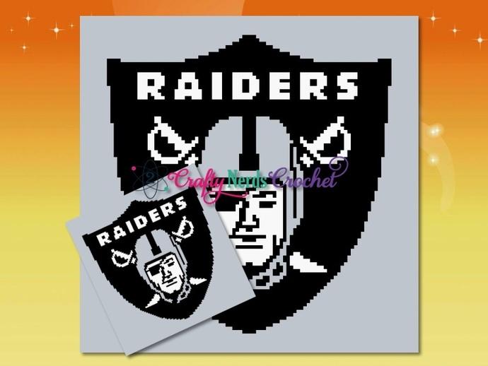 Raiders Pattern Graph With Single Crochet And Mini C2C Written