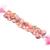 Pink Opal Heart Shape Beads,Pink Opal Briolette Faceted Heart Bead,Pink Opal