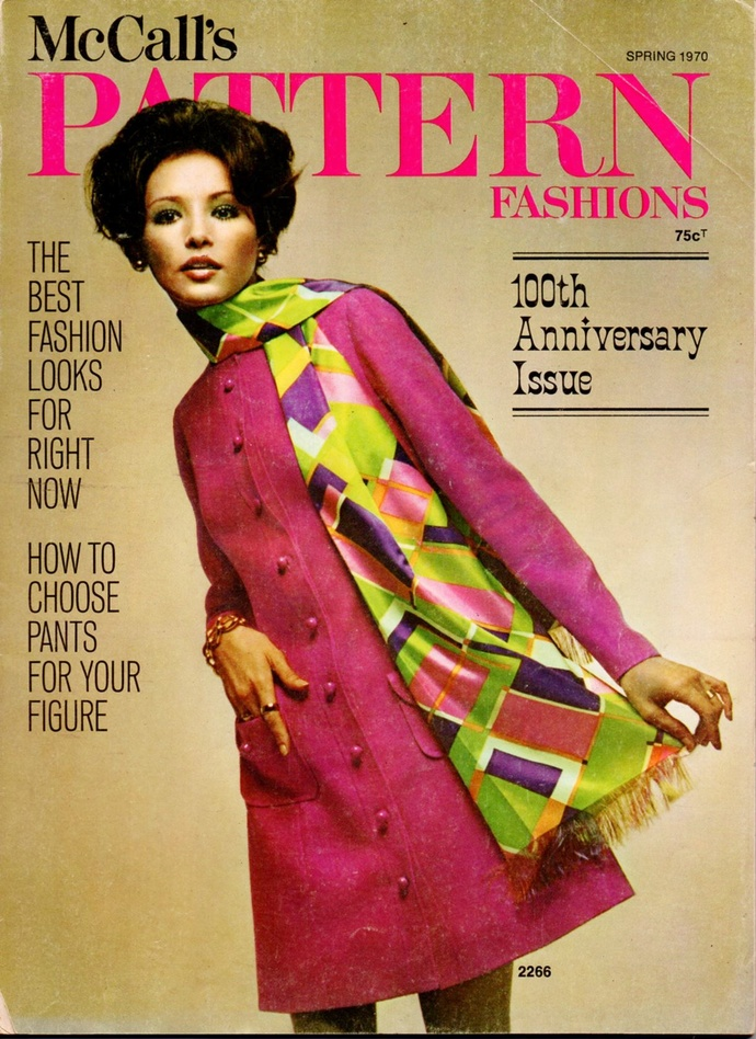 1970 McCall's Pattern Fashions Magazine 100th Anniversary Issue Home Catalog