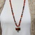 TeePee Canyon Agate Necklace, Beaded Necklace, Hand Knot Jewelry, by Knottedup,