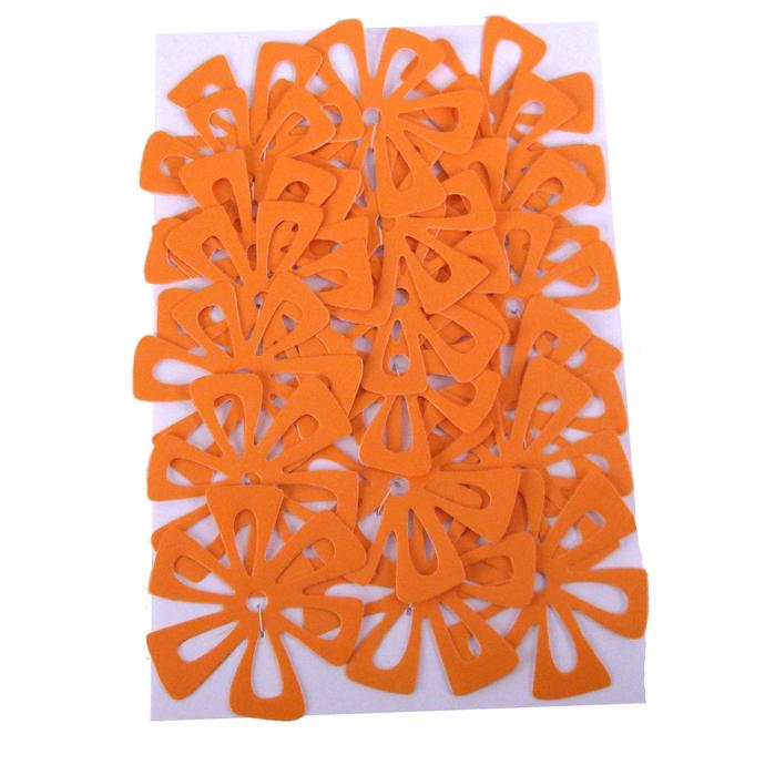20 Large Flower Embellishments in Goldenrod