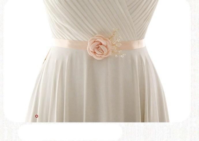 Handmade Flower Sash Belt for Maternity Pregnancy Baby Shower Wedding Party-6