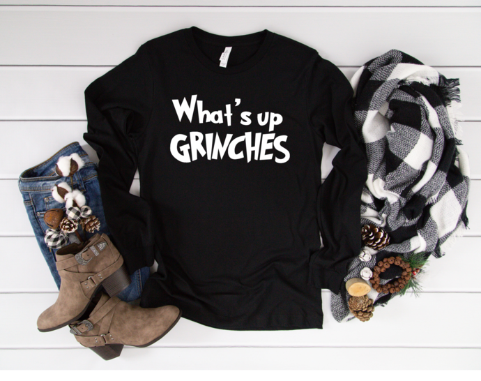 What's Up Grinches, Christmas Shirt, Christmas Grinch Shirt, Grinch shirt,