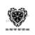 Heart Svg, Eps, Dxf, Dwg, Eps, Png, Pdf heart love monogram design for Cameo