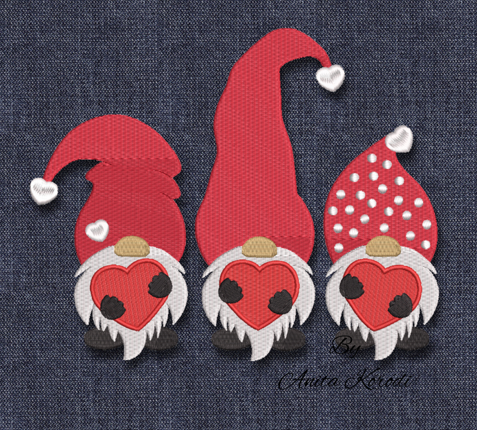 Christmas gnomes embroidery machine design winter instant digital download