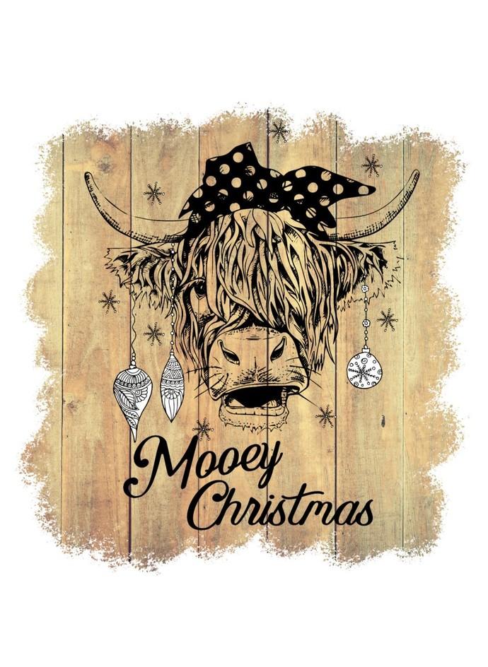 Mooey Christmas PNG, Merry Christmas, Heifer Christmas, Christmas Cow, Christmas