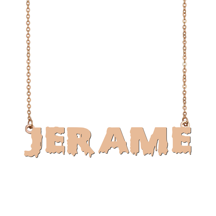 Custom Jerame Name Necklace Personalized Gift for Halloween Easter Christmas