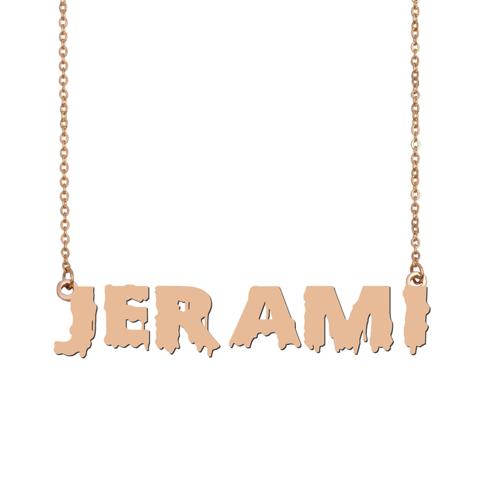 Custom Jerami Name Necklace Personalized Gift for Halloween Easter Christmas