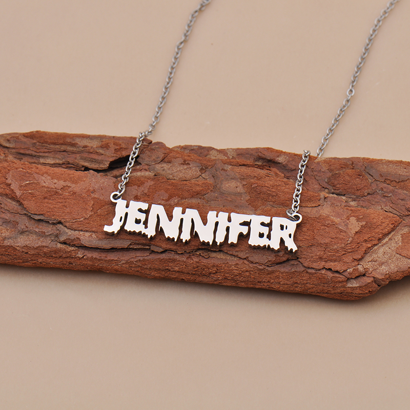 Custom Jeremiah Gypsy Name Necklace Personalized Gift for Halloween Easter