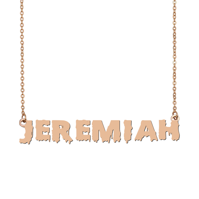 Custom Jeremiah Name Necklace Personalized Gift for Halloween Easter Christmas