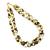 Bio Lemon Quartz Tumbled Necklace,Bio Lemon  Beaded Necklace, Beaded