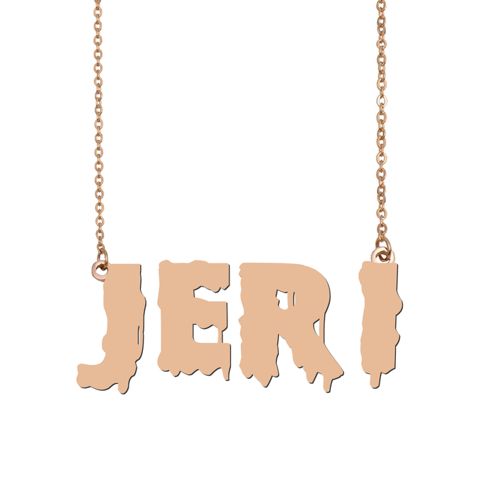 Custom Jeri Name Necklace Personalized Gift for Halloween Easter Christmas