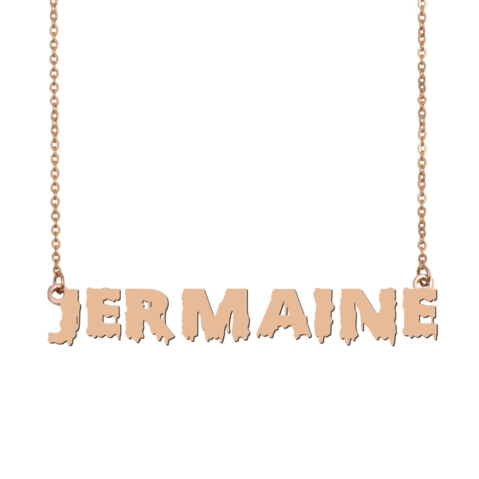 Custom Jermaine Name Necklace Personalized Gift for Halloween Easter Christmas