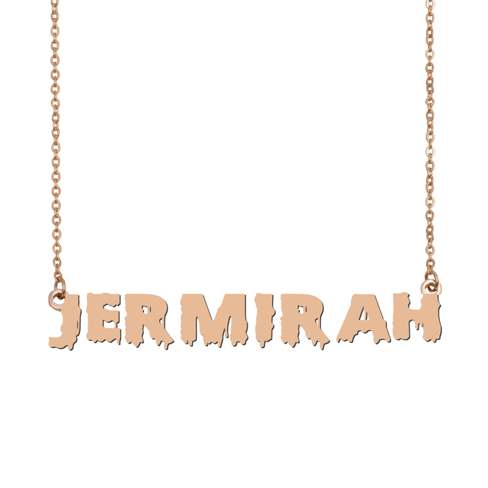 Custom Jermirah Name Necklace Personalized Gift for Halloween Easter Christmas