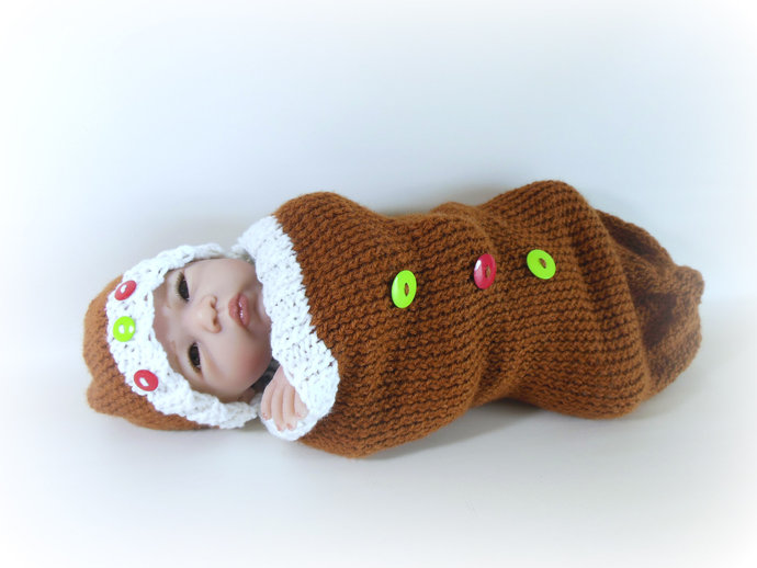 Made To Order Gingerbread Baby Costume, Gingerbread Baby Sleep Sack, Gingerbread