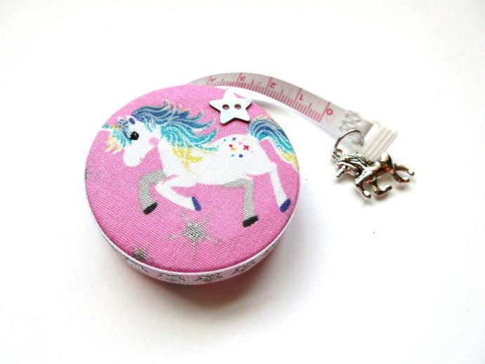Tape Measure Stars and Unicorns Small Retractable Measuring Tape