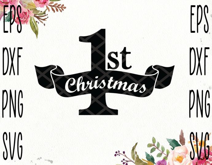 Merry Christmas Svg,1 st Christmas Svg,Merry Christmas svg,Christmas
