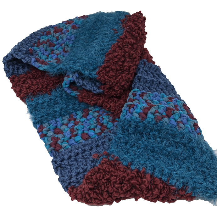 Infinity Statement Scarf Blue Red Wide