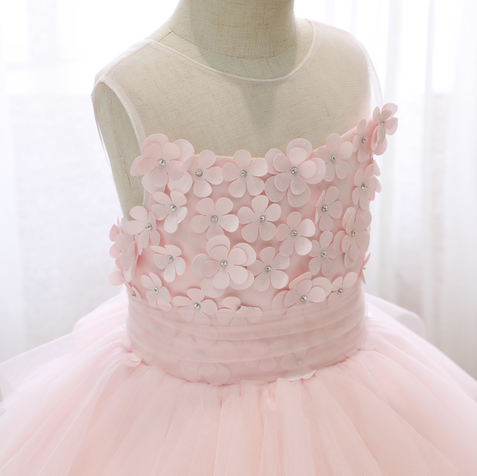 Flower Girl Dresses Puffy Yarn Princess Dress Wedding Flower Girl Birthday  Cake