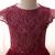 Flower Girls Dresses Weddings Children Princess Ball Gowns Petal Sleeve Wine Red
