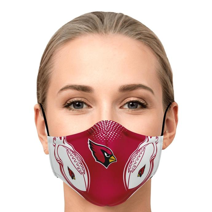 Burning Football Passion NFL Arizona Cardinals Face Mask, Adult Face Mask, Sport