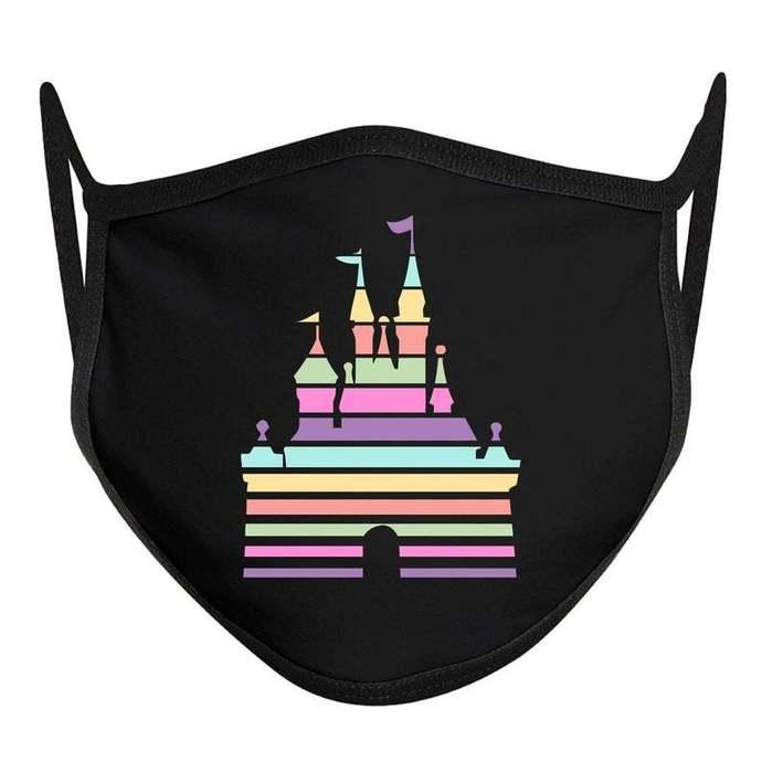 Castle Lines Mask, Disney Castle Mask, Disney Face Mask, Funny ADULT Disney
