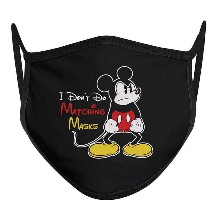 I Don't Do Matching Masks Face Mask, Disney World Mask, Disney Face Mask, ADULT