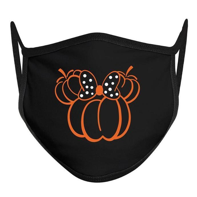Minnie Pumpkin Face Mask, Disney Halloween Face Mask, ADULT Disney Face Mask,