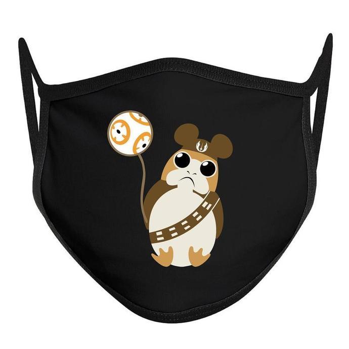 Porg Face Mask, Disney World Mask, Disney Face Mask, COTTON ADULT Disney Mask,