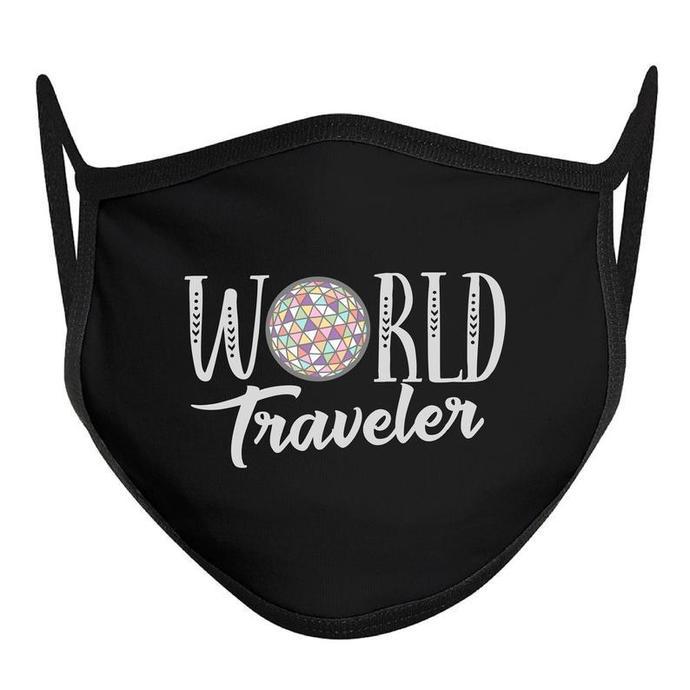 World Traveler Mask, Epcot Ball Mask, Disney Face Mask, COTTON ADULT Disney