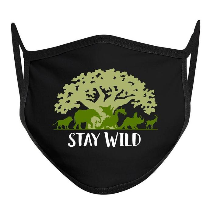Stay Wild Animal Kingdom Mask, Disney World Mask, Disney Face Mask, COTTON ADULT