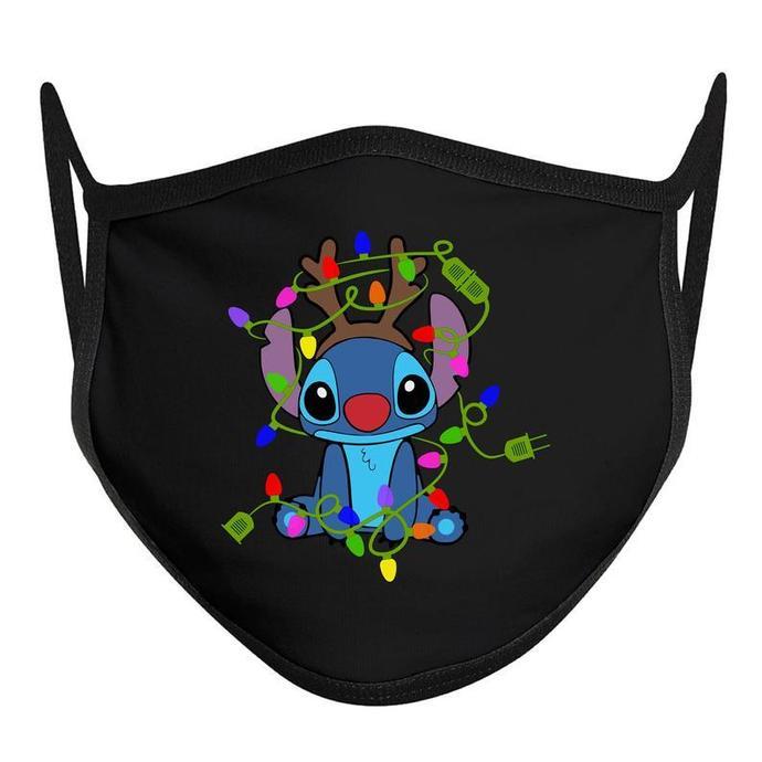 Stitch Christmas Mask, Disney Christmas Mask, Disney Face Mask, ADULT Disney