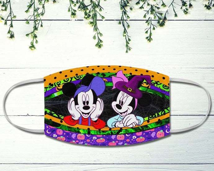 Mickey Minnie Halloween Face Mask, Happy Halloween, Disney Face Mask, Trick Or