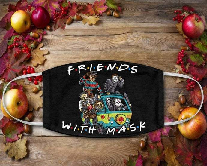 Halloween Friends Mask, Friends With Mask, Horror Characters, Horror Squad,