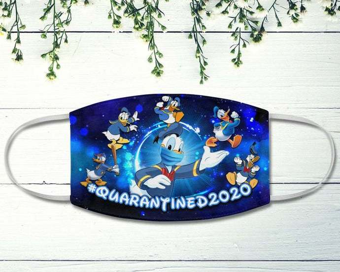 Donald Duck Face Mask, Quarantined 2020, Disney Lovers, Disney Quarantine Mask,
