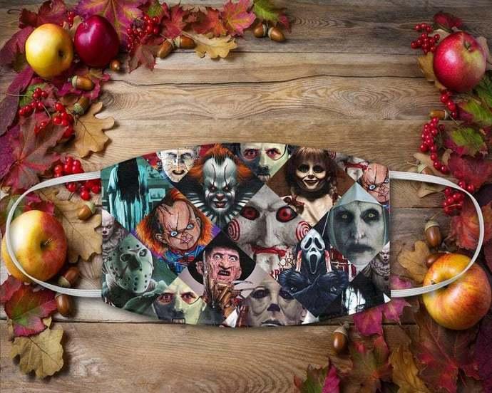 Horror Characters Mask, Horror Halloween Killers Mask, Halloween Villains,