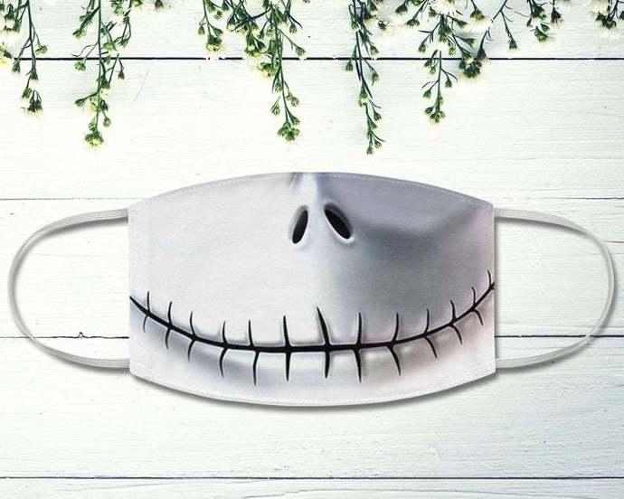 Halloween Jack Skellington Face Mask, Nightmare Before Christmas, Halloween